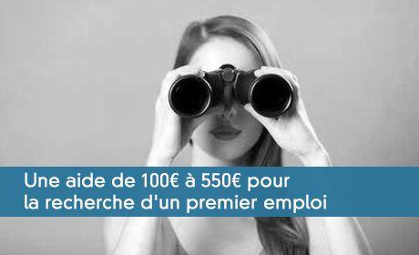 Une aide de 100� � 550� pour la recherche d'un premier emploi