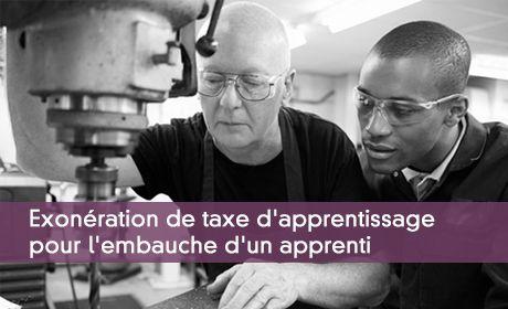 Exonération de taxe d'apprentissage
