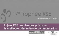 Enjeux RSE : remise des prix pour la meilleure démarche de communication