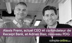 Alexis Prenn, actuel CEO et co-fondateur de Receipt Bank, et Adrian Blair, nouveau PDG