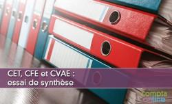 CET, CFE et CVAE