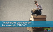 Téléchargez gratuitement les sujets du CPFCAC