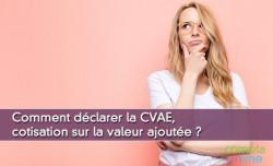 Comment déclarer la CVAE, cotisation sur la valeur ajoutée ?