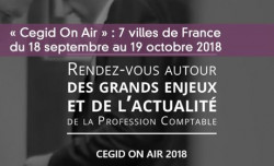 « Cegid On Air » : 7 villes de France  du 18 septembre au 19 octobre 2018