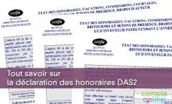Déclaration des honoraires DAS2
