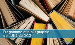 Programme et bibliographie de l'UE 9 du DCG