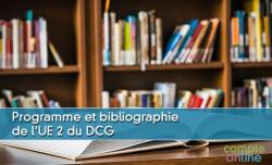 Programme et bibliographie pour l'UE2 du DCG