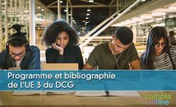 Programme et bibliographie de l'UE 3 du DCG