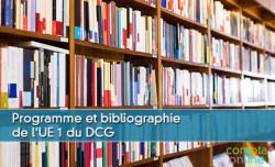 Programme et bibliographie pour l'UE1 du DCG