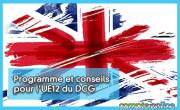 Programme et conseils pour l'UE12 du DCG