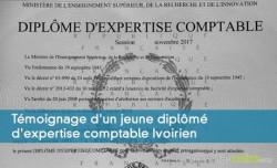 Témoignage d'un jeune diplômé d'expertise comptable Ivoirien
