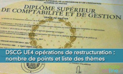 DSCG UE4 Opérations de restructuration : nombre de points et liste des thèmes