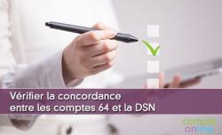 Vérifier la concordance entre les comptes 64 et la DSN