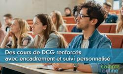 Des cours de DCG renforcés avec encadrement et suivi personnalisé
