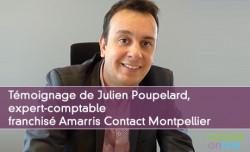 Témoignage de Julien Poupelard, expert-comptable franchisé Amarris Contact Montpellier