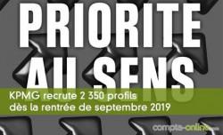 KPMG recrute 2 350 profils dès la rentrée de septembre 2019