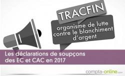 Les déclarations de soupçons des EC et CAC en 2017