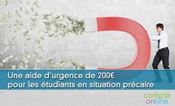 Une aide d'urgence de 200¤ pour les étudiants en situation précaire