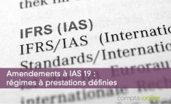 Amendements à IAS 19 : régimes à prestations définies