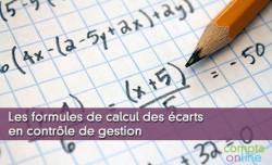 Les formules de calcul des écarts en contrôle de gestion