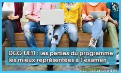 DCG UE11 : les parties du programme les mieux représentées à l'examen