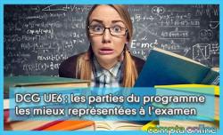 DCG UE6 : les parties du programme les mieux représentées à l'examen