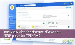 Interview des fondateurs d'Axonaut, l'ERP pour les TPE/PME