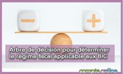 Arbre de décision pour déterminer le régime fiscal applicable aux BIC