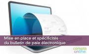 Mise en place et spécificités du bulletin de paie électronique