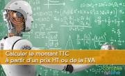 Calculer le montant TTC à partir d'un prix HT ou de la TVA