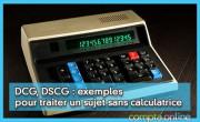 DCG, DSCG : exemples pour traiter un sujet sans calculatrice