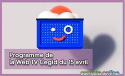 Programme de la Web TV Cegid du 15 avril