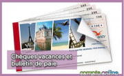 Chèques vacances et bulletin de paie