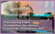 Place des Big 4 dans le classement des cabinets d'expertise comptable en 2020