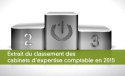 Extrait du classement des cabinets d'expertise comptable en 2015