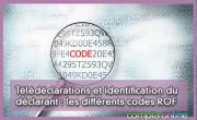 Télédéclarations et identification du déclarant : les différents codes ROF