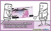 Don à une association : compte 6238 ou 613