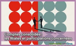 Comptes consolidés : les filiales et participations concernées