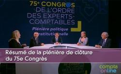 Résumé de la plénière de clôture du 75e Congrès