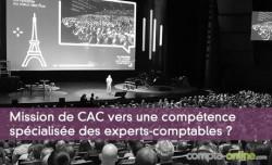 Mission de CAC vers une compétence spécialisée des experts-comptables ?
