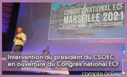 Intervention du président du CSOEC en ouverture du Congrès ECF