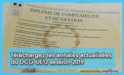 Téléchargez les annales actualisées du DCG UE12 session 2019