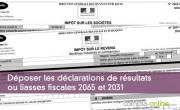 Déposer les déclarations de résultats ou liasses fiscales 2065 et 2031