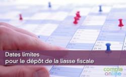 Dates limites pour le dépôt de la liasse fiscale