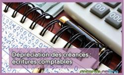 Dépréciation des créances : écritures comptables