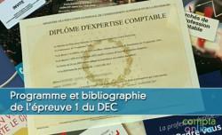 Programme et bibliographie de l'épreuve 2 du DEC