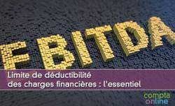 Limite de déductibilité des charges financières : l'essentiel