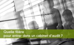 Quelle filière pour entrer dans un cabinet d'audit ?