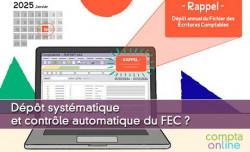 Dépôt systématique et contrôle automatique du FEC ?