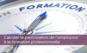 Calculer la participation de l'employeur à la formation professionnelle